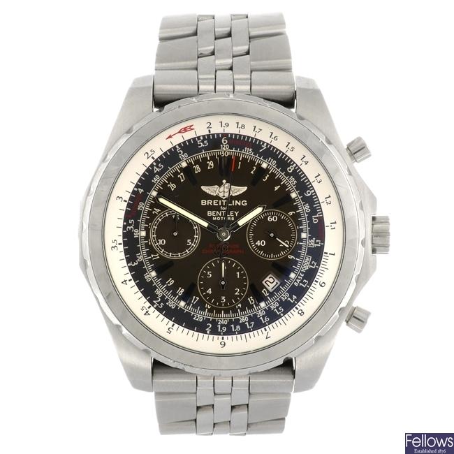 (948000919) A stainless steel automatic gentleman's Breitling for Bentley Motors T bracelet watch.