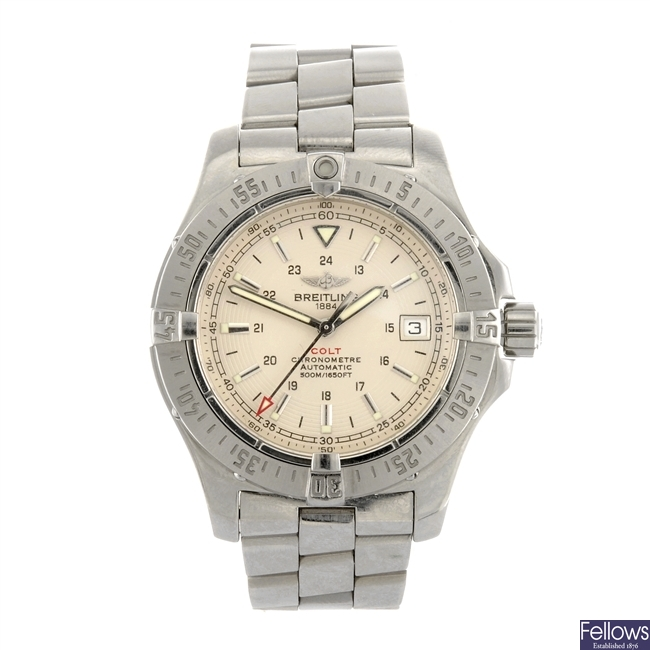 (413016120) A stainless steel automatic gentleman's Breitling Colt bracelet watch.