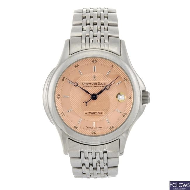 (405059450) A stainless steel automatic gentleman's Dreyfuss & Co. Series 1925 bracelet watch.