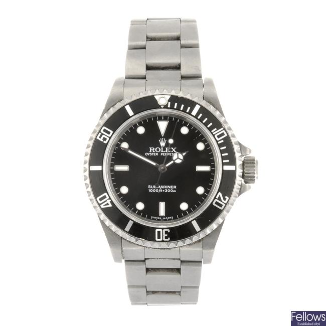 (907005854) A stainless steel automatic gentleman's Rolex Submariner bracelet watch.