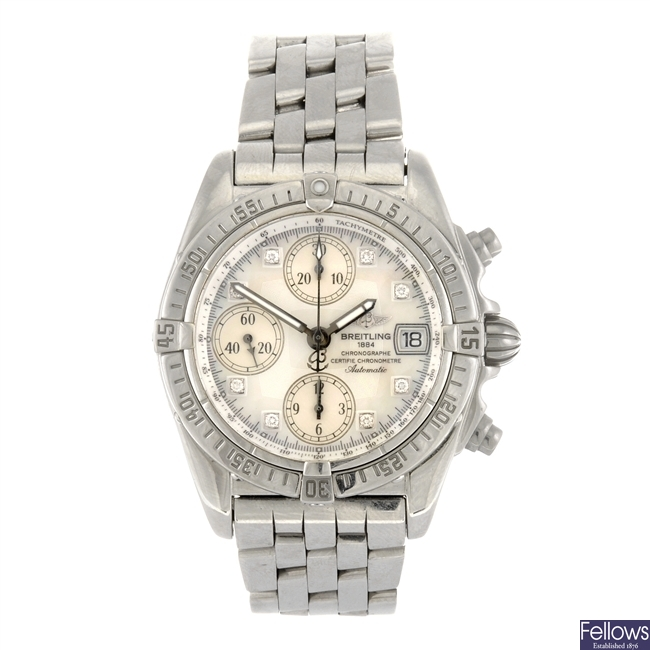 (902007174) A stainless steel automatic gentleman's Breitling Chrono Cockpit bracelet watch.