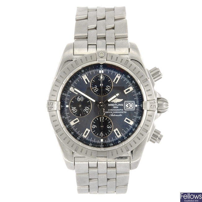 (902007017) A stainless steel automatic chronograph gentleman's Breitling Chronomat bracelet watch.