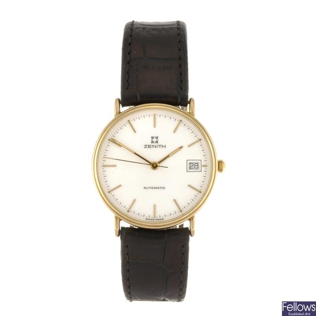 (107211426) A 9k gold automatic gentleman's Zenith wrist watch.