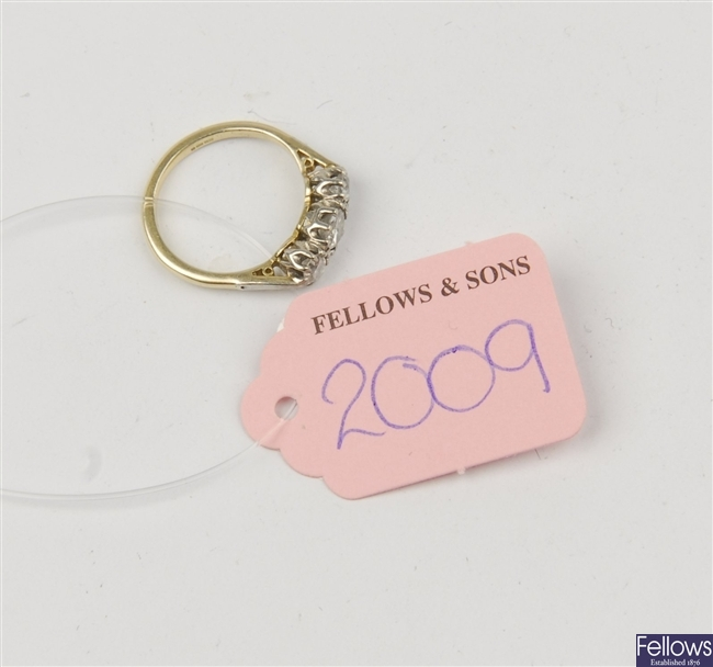 (116192876) ring three stone ring