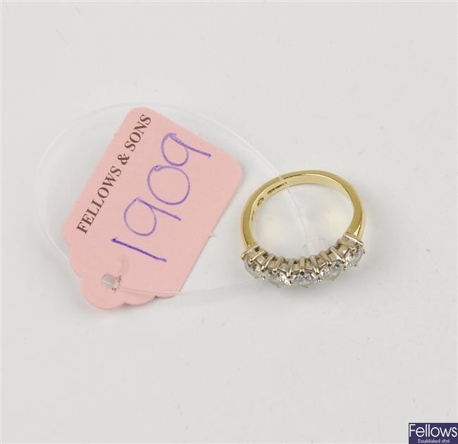 (116191216) 18ct eternity ring