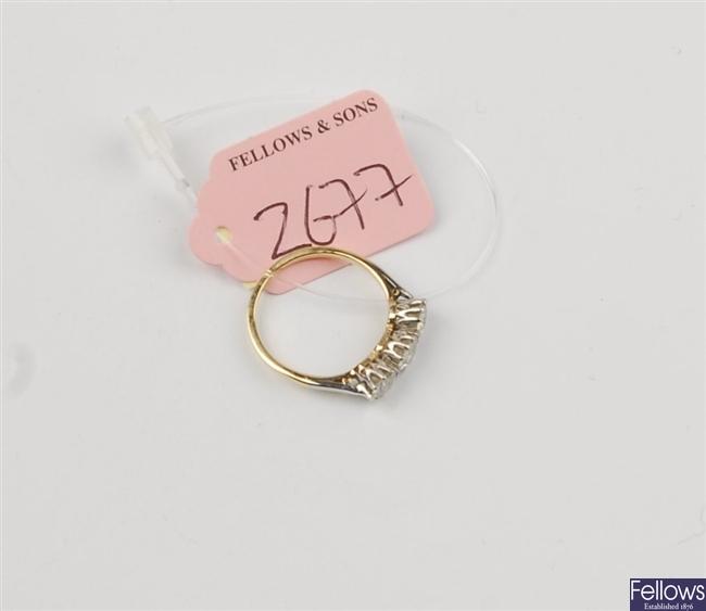 (1102019404) ring three stone ring