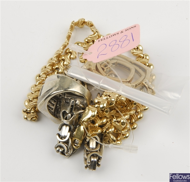 (131143668) four assorted bracelets, two assorted necklets, two assorted rings
