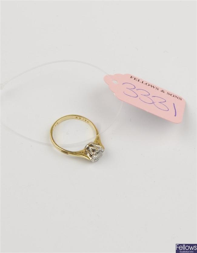 (220983495) ring single stone ring