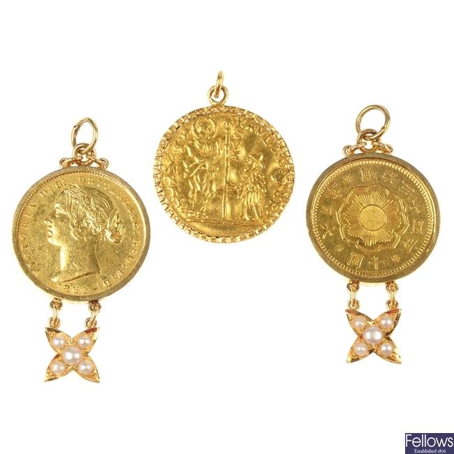 World gold coins.
