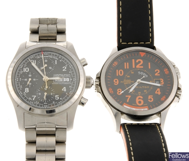 A group of Hamilton watches.