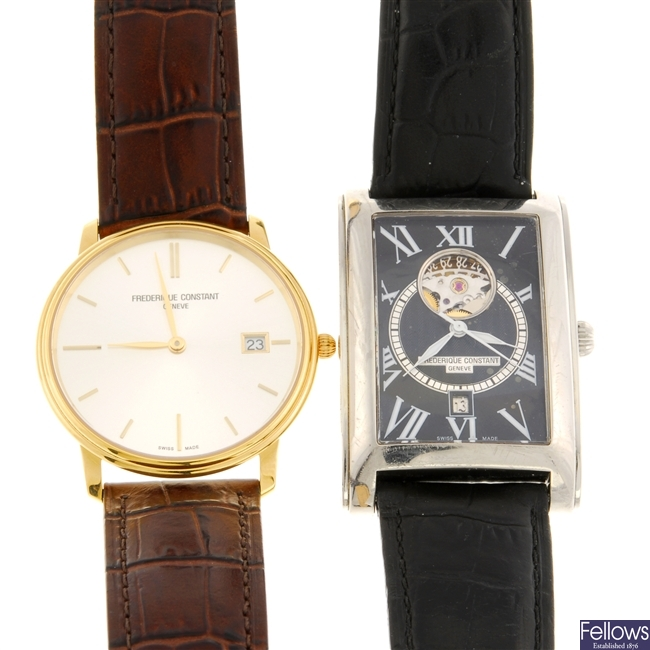 A group of Frederique Constant watches.