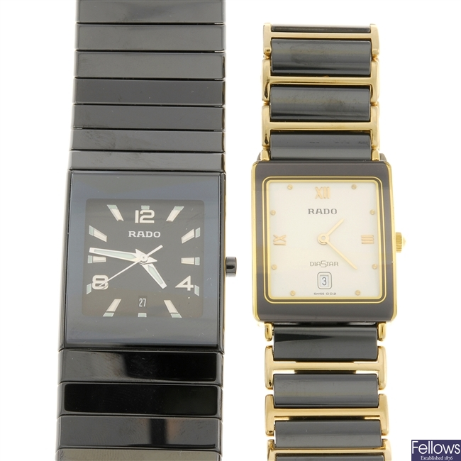 A group of Rado watches.
