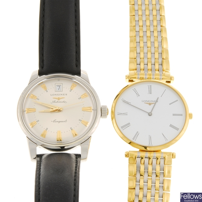 A group of Longines watches.