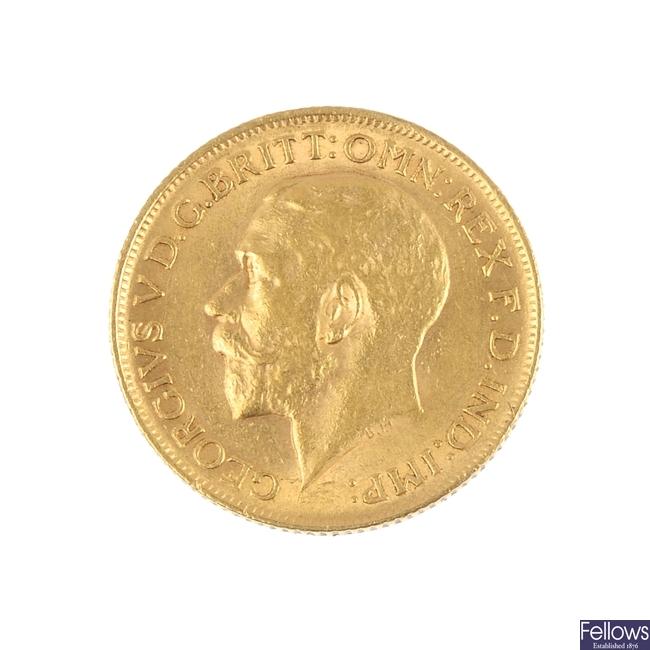 George V, Sovereign 1912.