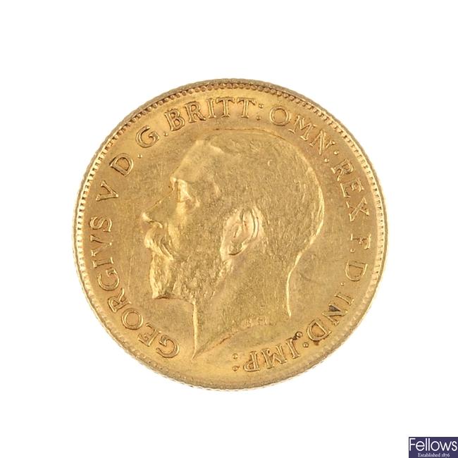 George V, Half-Sovereign 1914.