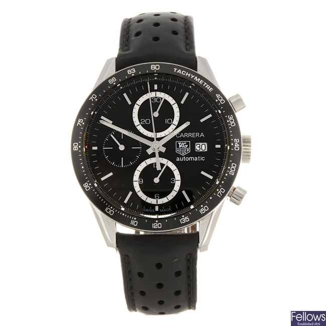 (903005918) A stainless steel automatic chronograph gentleman's Tag Heuer Carrera wrist watch.