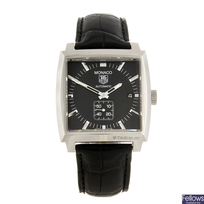 (230970594) A stainless steel automatic gentleman's Tag Heuer Monaco wrist watch.