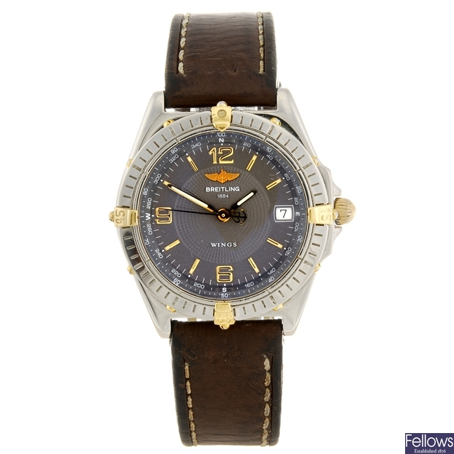 (992032275) A stainless steel automatic gentleman's Breitling Windrider Wings wrist watch.