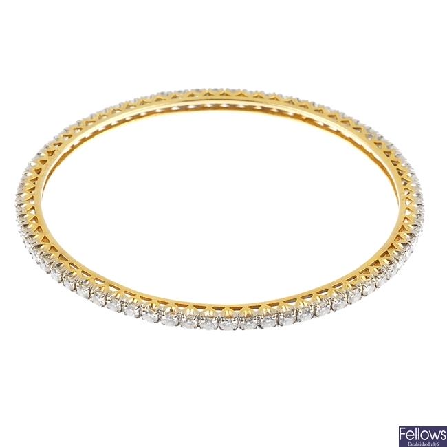 A diamond bangle.