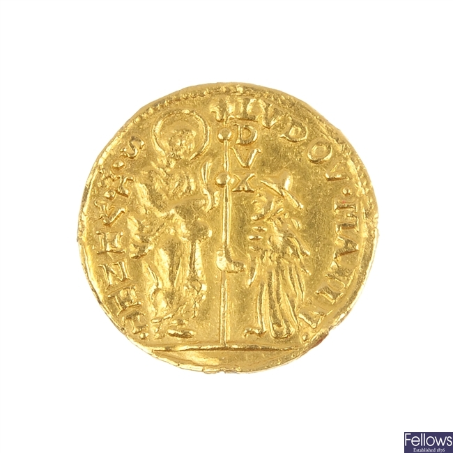 Italy, Venice, Ludovico Manin gold Zecchino.