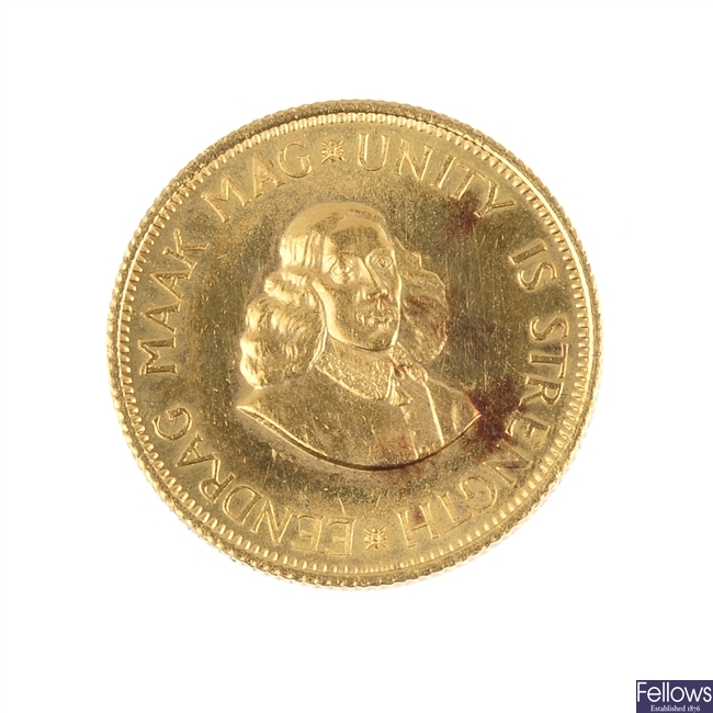 South Africa, gold 2-Rand 1963.