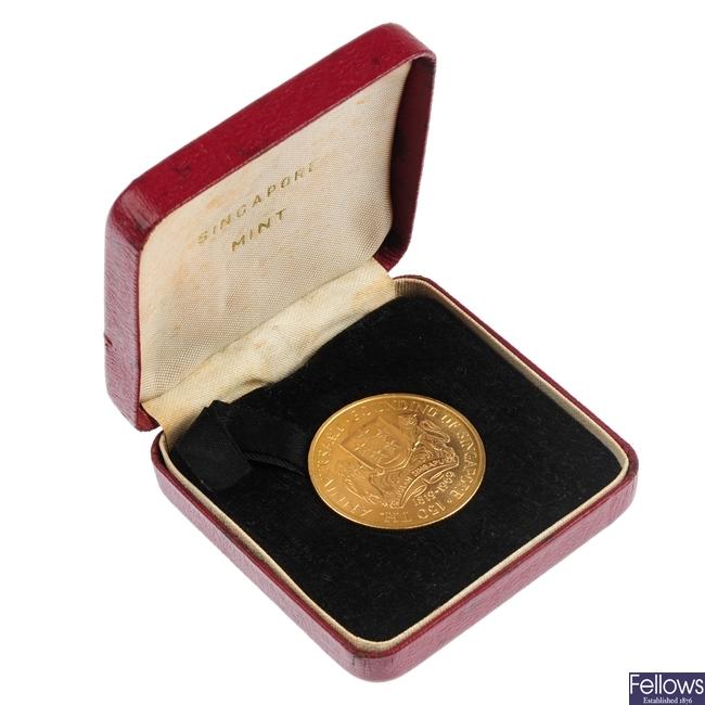 Singapore, gold 150-Dollars 1969.
