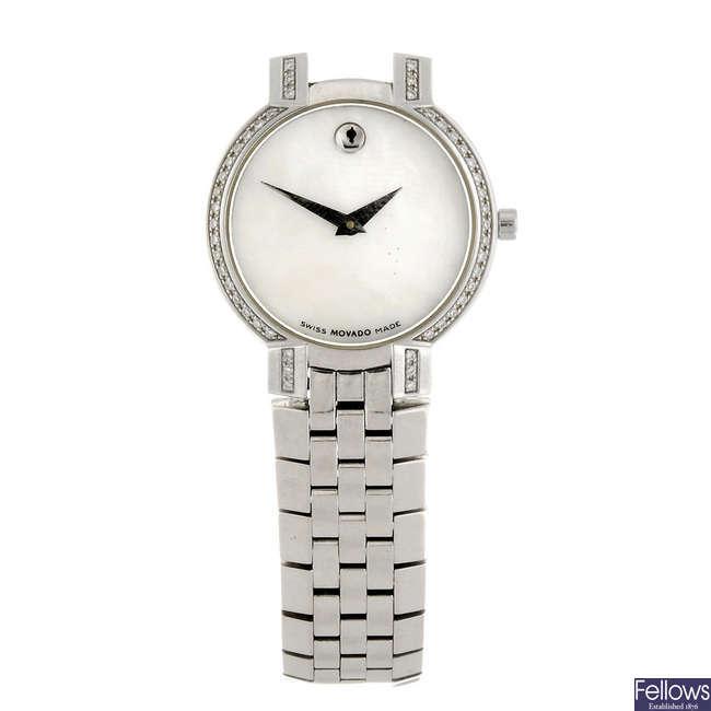 MOVADO - a lady's Museum bracelet watch.