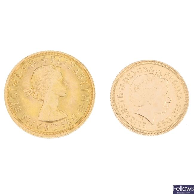 Elizabeth II, Sovereign & Half-Sovereign.