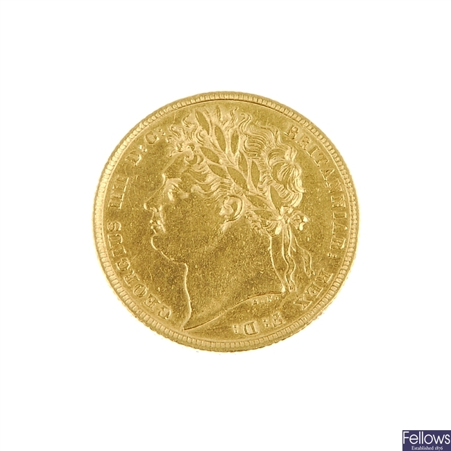 George IV Sovereign 1822.