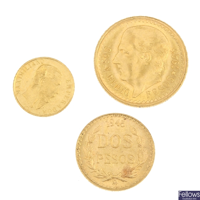 Mexico, gold minors (3).