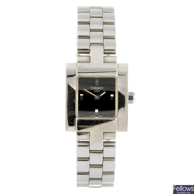 TISSOT - a lady's T-Trend bracelet watch.