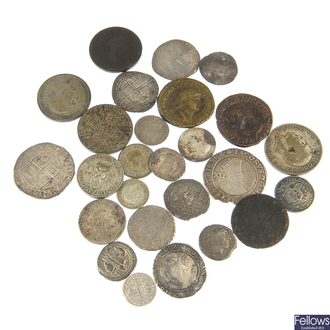 Henry VI to George VI silver coins.