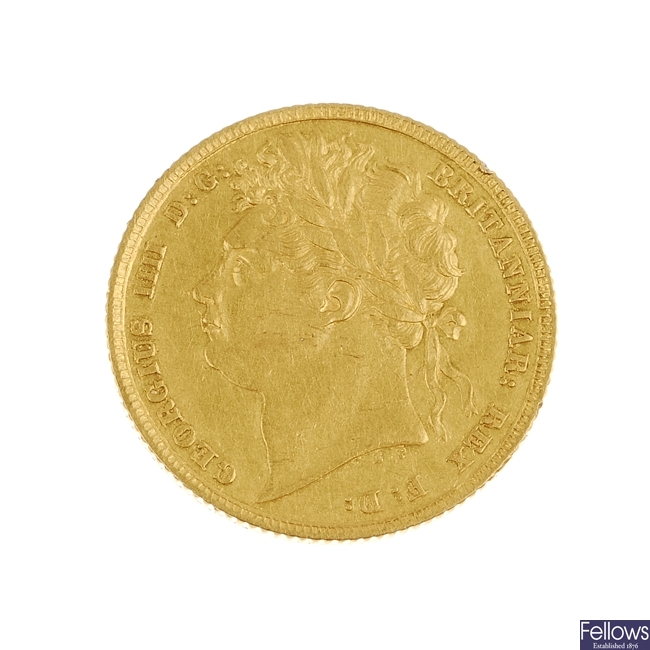 George IV, Sovereign 1842