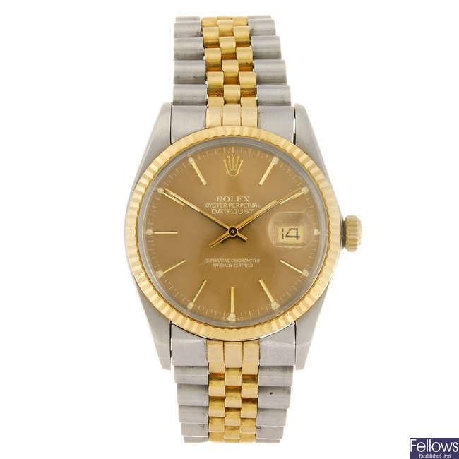 ROLEX - gentleman's Oyster Perpetual Datejust bracelet watch.