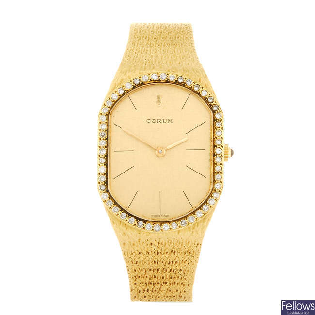 CORUM - a gentleman's bracelet watch.