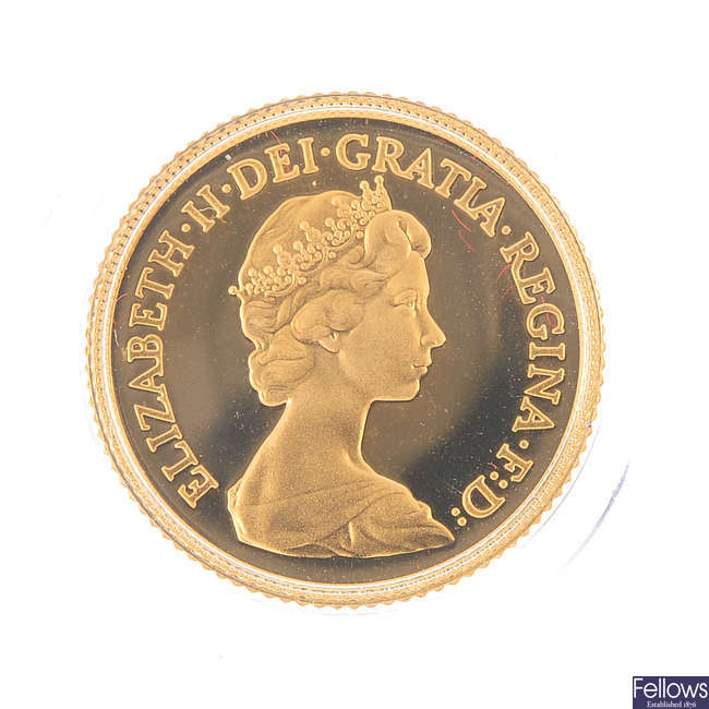 Elizabeth II, Proof Half Sovereign 1980.