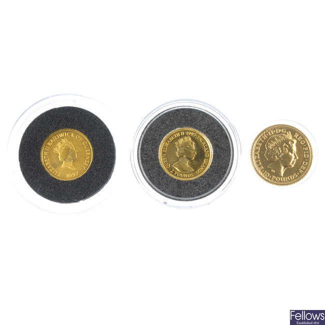 Elizabeth II, Britannia 10-Pounds, etc.