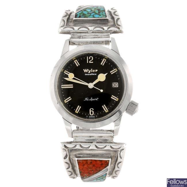 WYLER - a gentleman's Tri Sport bracelet watch.