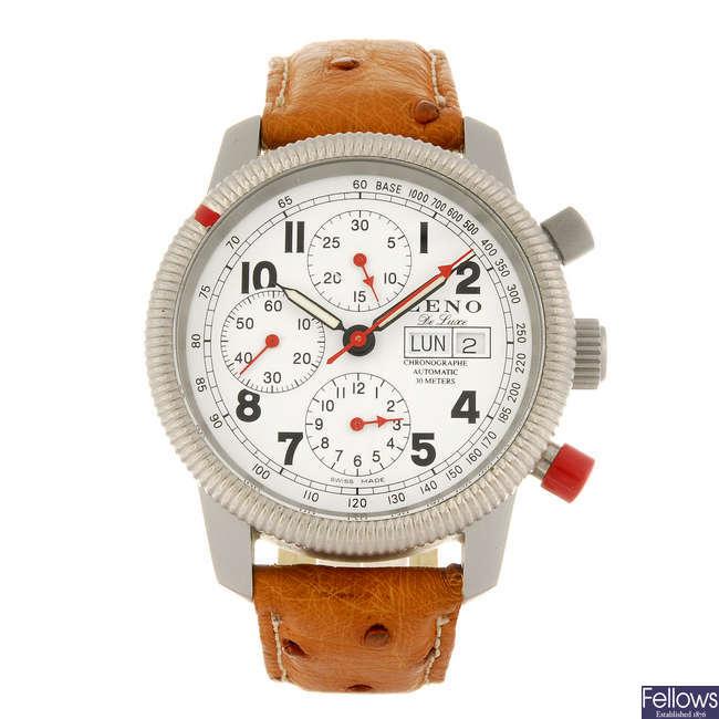 ZENO - a gentleman's chronograph wrist watch.