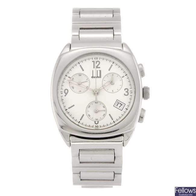 DUNHILL - a gentleman's chronograph bracelet watch.