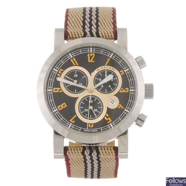 BURBERRY - a gentleman's chronograph wrist watch.