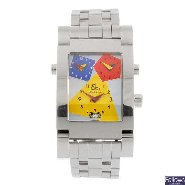 JACOB & CO - a gentleman's bracelet watch.