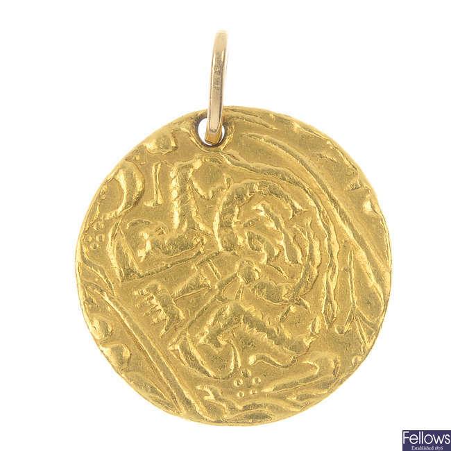 India, Awadh, Ghazi-ud-Din Haidar gold Ashrafi.