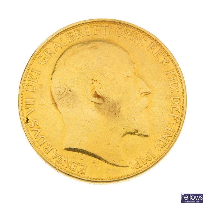 Edward VII, Two-Pounds 1902.