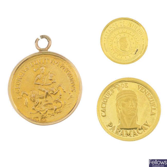 Caciques de Venezuela, Paramacay commemorative gold coin, etc.