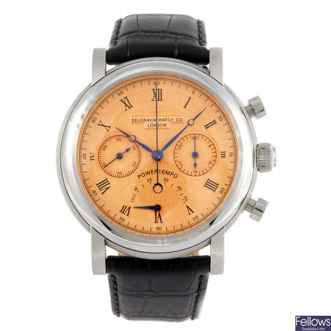 BELGRAVIA WATCH CO. - a limited edition gentleman's Power Tempo chronograph wrist watch.