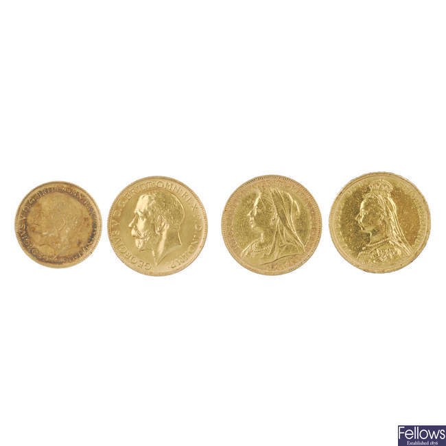 Victoria and later Sovereigns.