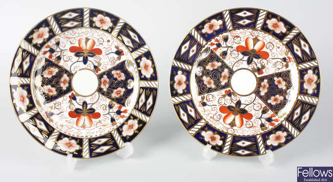 Twenty-three Royal Crown Derby plates