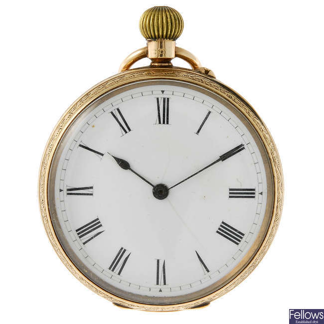 An open face fob watch by H. Palethorpe, Walsall.