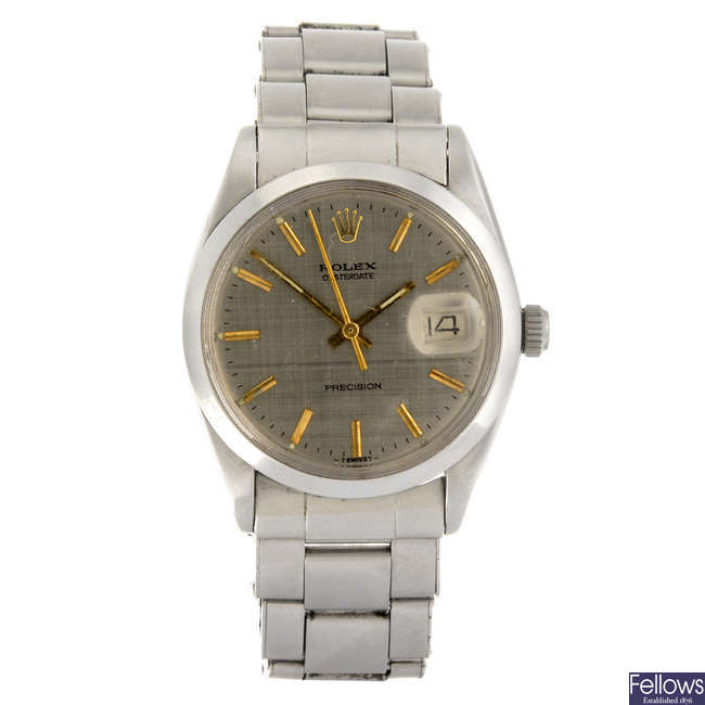 ROLEX - a gentleman's Oysterdate Precision bracelet watch.